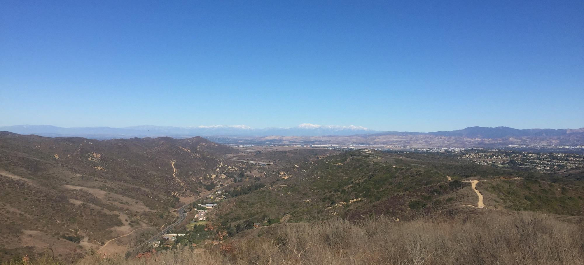 Views of Mount Baldy from Laguna Beach Mountains