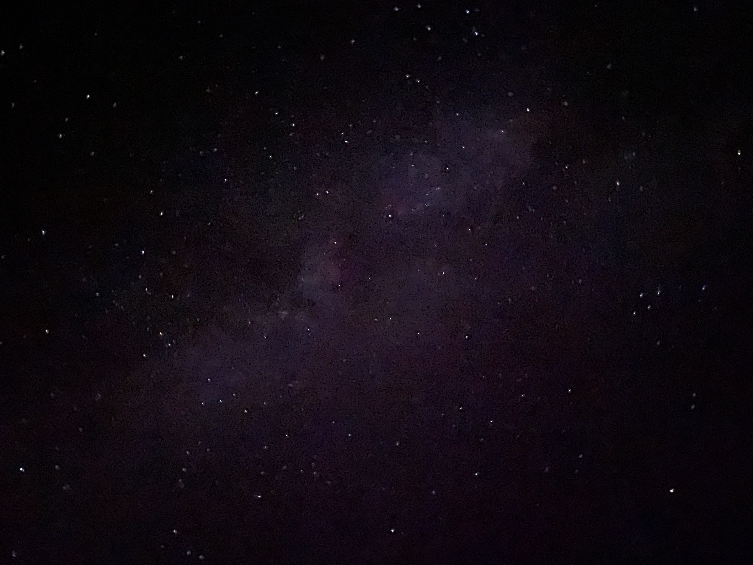 Stars and Milky Way from My Phone - Stargazing at the Bryce Canyon